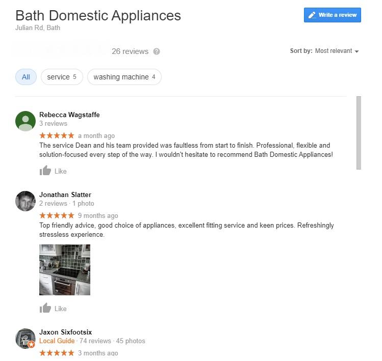 Bath domestic appliance reivews